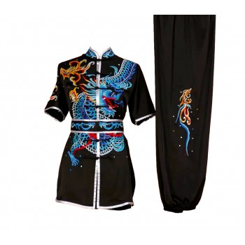 UC008 - Black Uniform with Dragon Embroidery