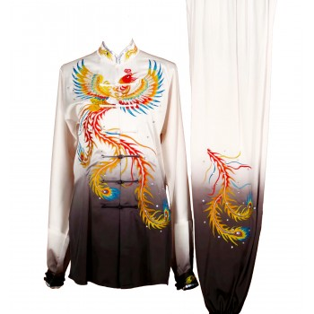 UC009 - White/Black Gradient Uniform with Phoenix Embroidery
