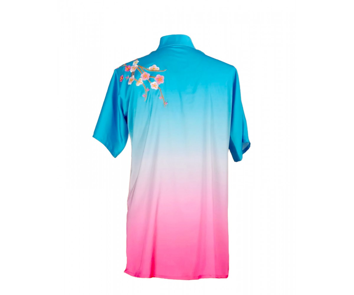 UC010 - Blue/Pink Gradient Uniform with Flower Embroidery