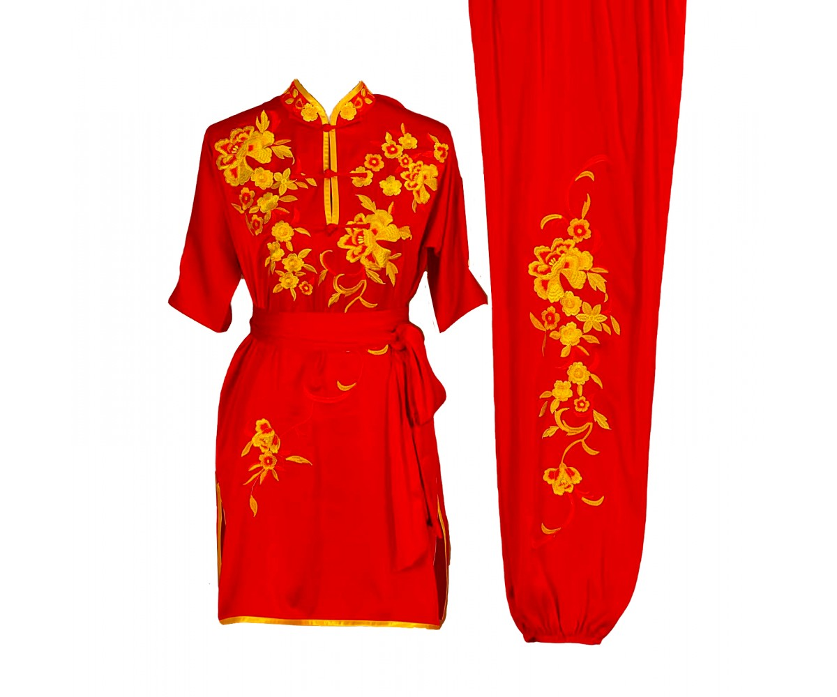 UC011 - Red Uniform with Flower Embroidery