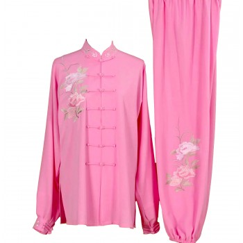 UC012 - Pink Uniform with Flower Embroidery