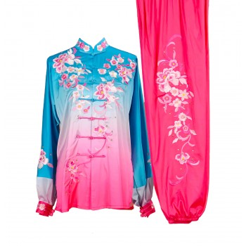 UC015 - Blue/Pink Gradient Uniform with Flower Embroidery
