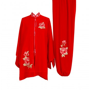 UC016 - Red Uniform with Flower Embroidery