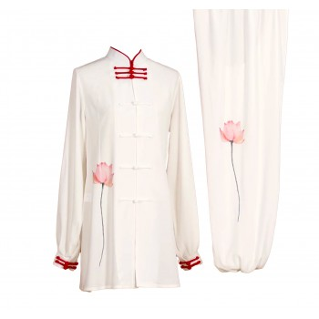 UC017 - White Uniform with Flower Embroidery