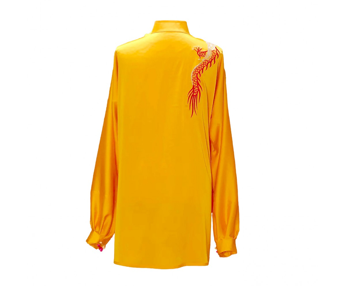 UC027 - Golden Yellow Uniform with Dragon Embroidery
