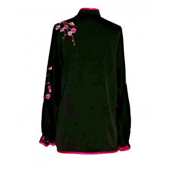 UC028 - Black Uniform with Flower Embroidery