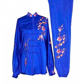 UC029 - Blue Uniform with Flower Embroidery