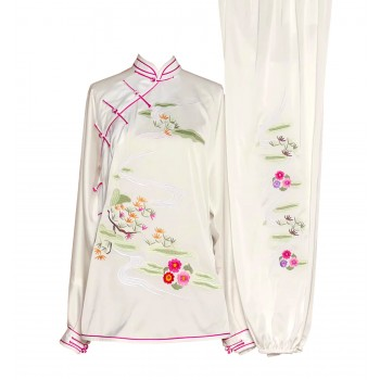 UC030 - White Uniform with Flower Embroidery