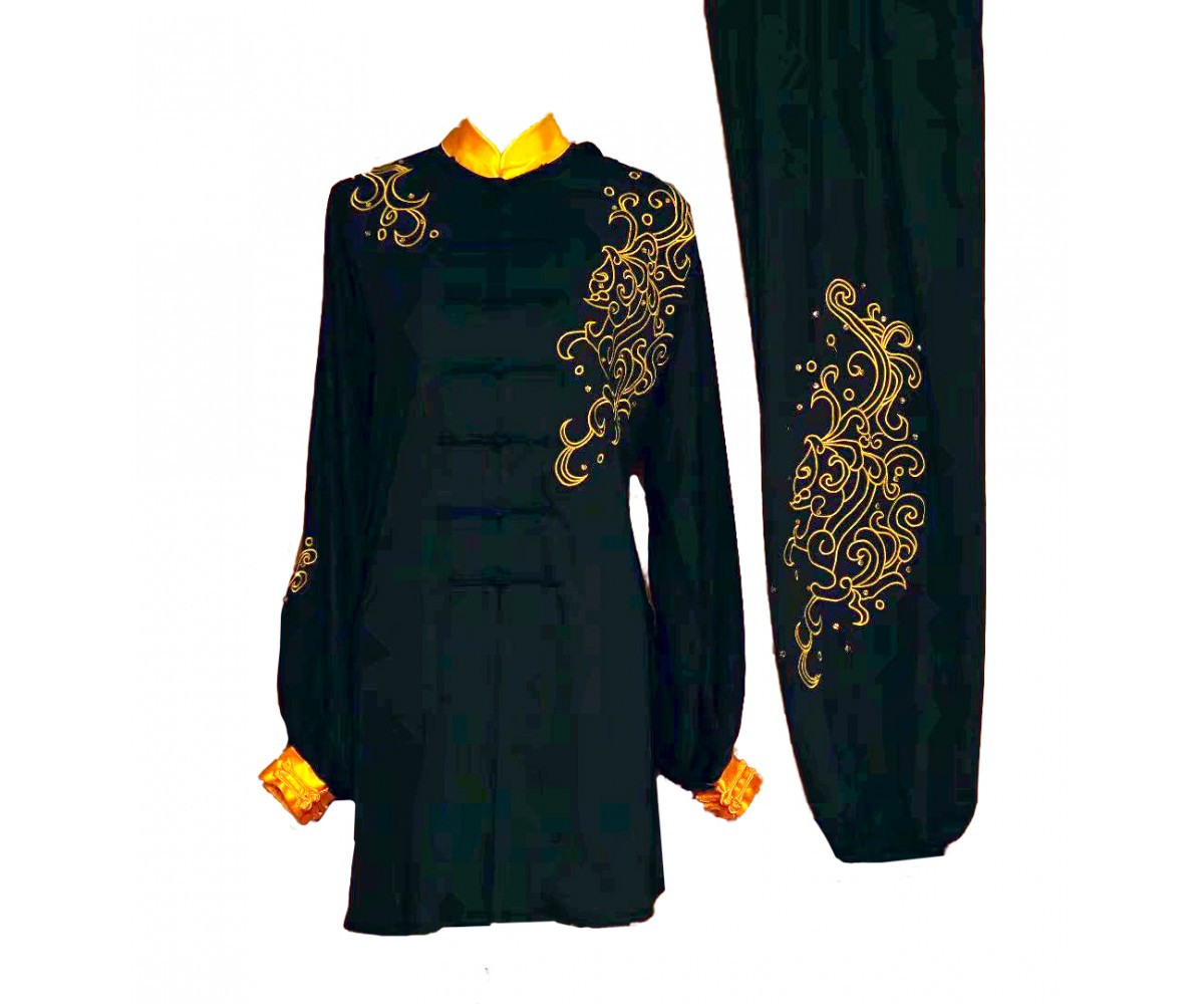UC033 - Black Uniform With Embroidery