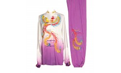 UC035 - White/Purple Gradient Uniform with Phoenix Embroidery