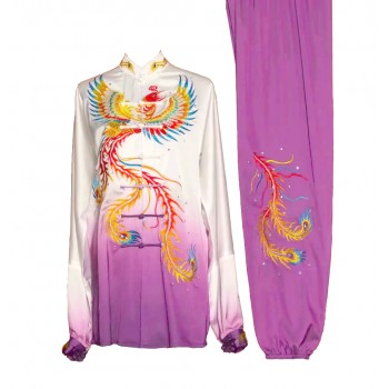 UC141 - Maroon Uniform with Series of Dragon Embroidery