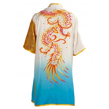 UC055 - White/Blue Uniform with Dragon Embroidery