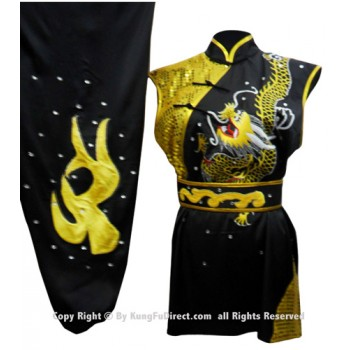 UC061 - Black Uniform with Golden Dragon Embroidery