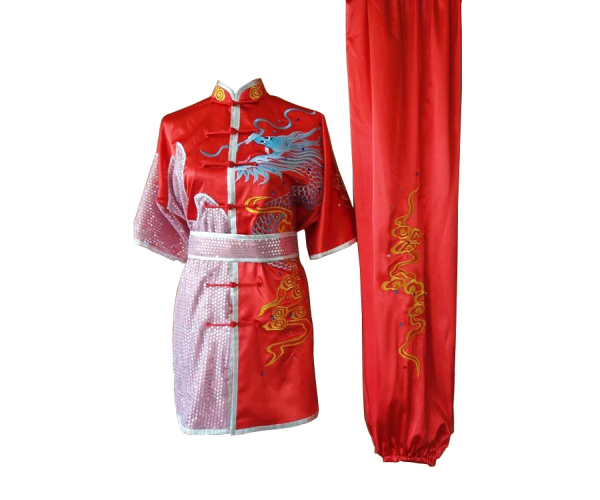 UC087 - Red Uniform with Dragon Embroidery