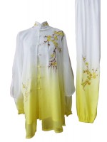 UC088 - White and Yellow Gradient Uniform with Flower Embroidery