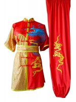 UC090 - Red Uniform with Dragon Embroidery