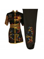 UC095 - Black Uniform with Dragon Embroidery