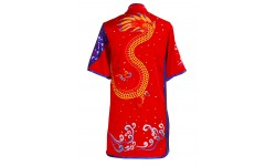 UC096 - Red Uniform with Dragon Embroidery
