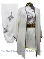 UC101 - White Shawl with Dark Purple Trim - Shawl only