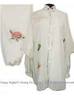 UC108 - White Shawl with Butterfly Embroidery- Shawl Only