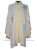 UC123 - White Shawl with Blue Cloud- Shawl Only