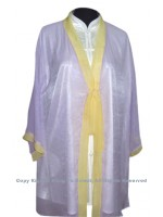 UC131 - Light Purple Shawl with Yellow Trim- Shawl Only