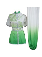 UC204 - White and Green Gradient Dragon Embroidery with Sash