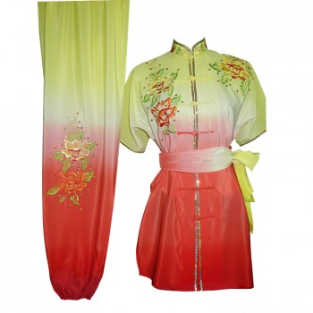 UC206 - Yellow and Red Gradient Flower Embroidery with Sash