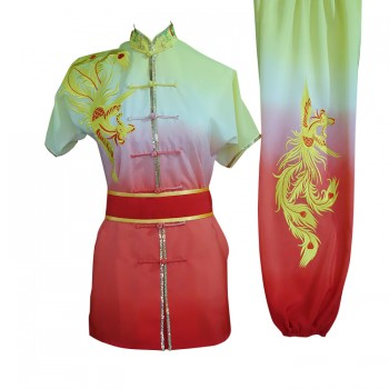 UC208 - Yellow and Red Gradient Phoenix Embroidery with Sash