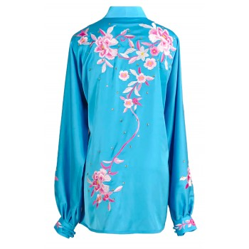 UC306 - Light Blue Uniform with Flower Embroidery