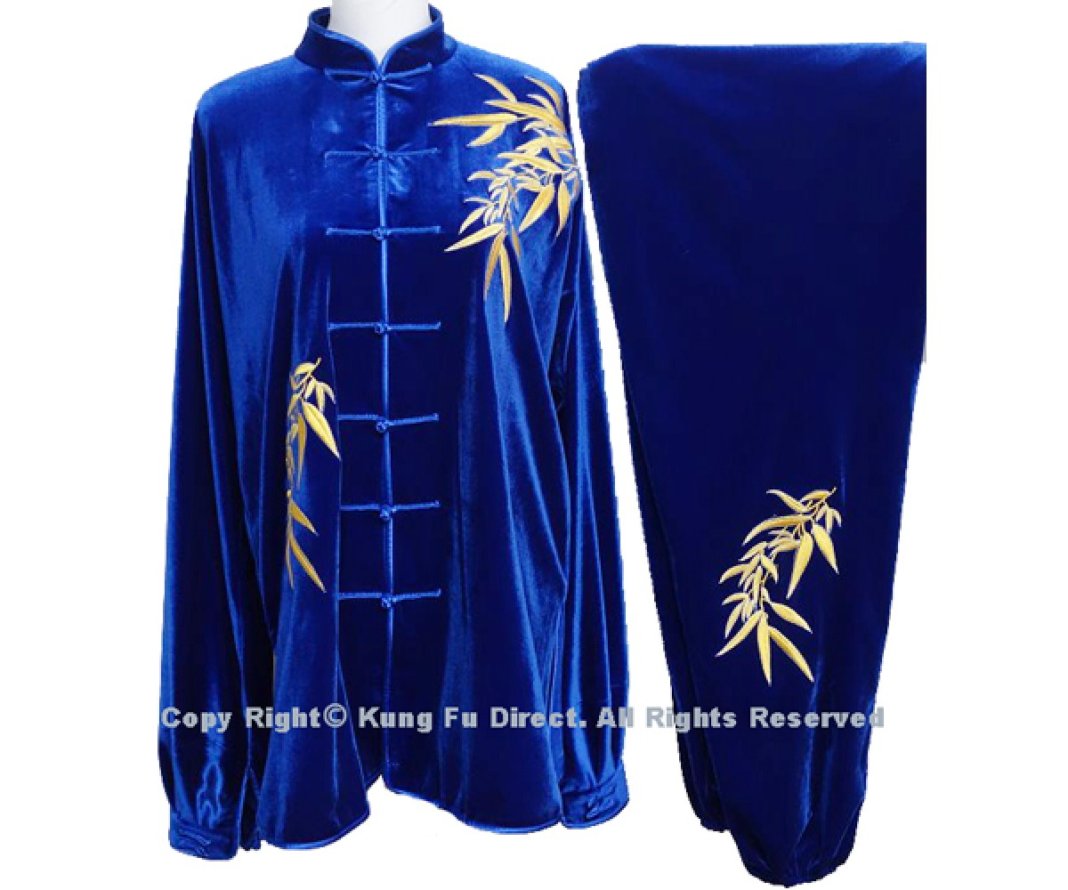 UC306 - Professional TaiChi Velvet Uniform in Royal Blue