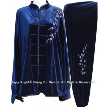 UC311 - Professional TaiChi Velvet Uniform in Dark Blue