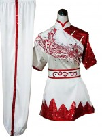 UC400 - White Phoenix Uniform with Red Embroidery