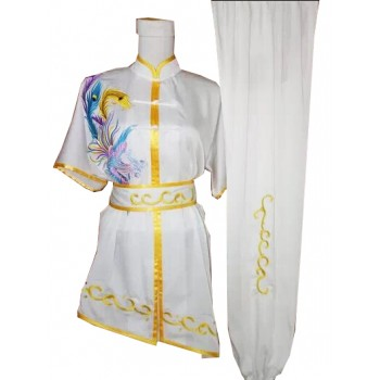 UC403 - Uniform in White with Golden Trim and Phoenix Embroidery