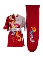 UC501 - Red Uniform with Phoenix Embroidery