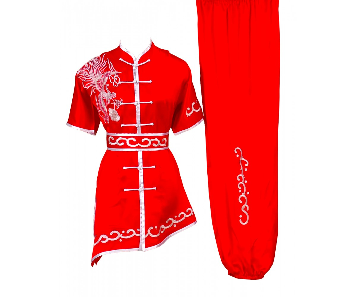 UC503 - Red Uniform with Silver Phoenix Embroidery