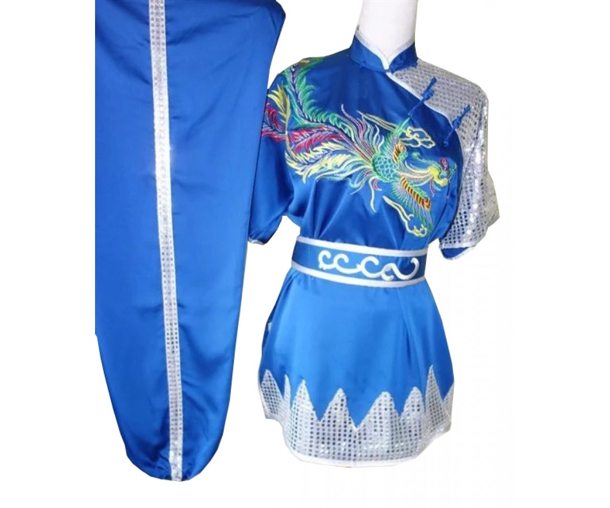 UC504 - Blue Uniform with Silver Phoenix Embroidery