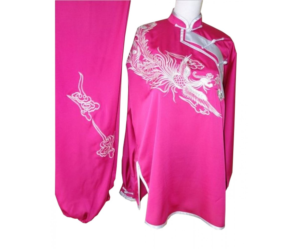 UC506 - Pink Uniform with Silver Phoenix Embroidery