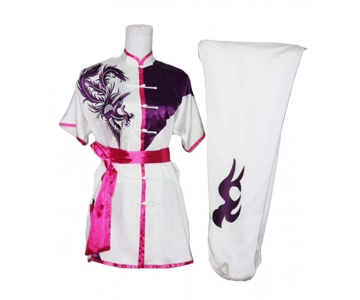 UC513 - White Uniform with Pink Trim and Purple Embroidery