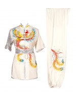 UC516 - White Uniform with Phoenix Embroidery
