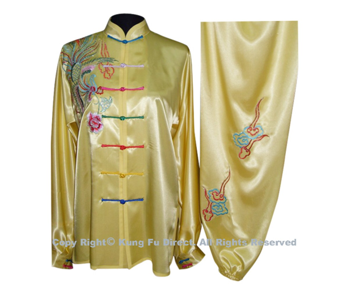 UC518 - Yellow Uniform with Color Phoenix Embroidery