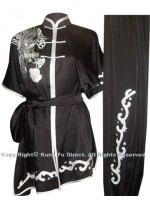 UC521 - Black Uniform with Silver Phoenix Embroidery
