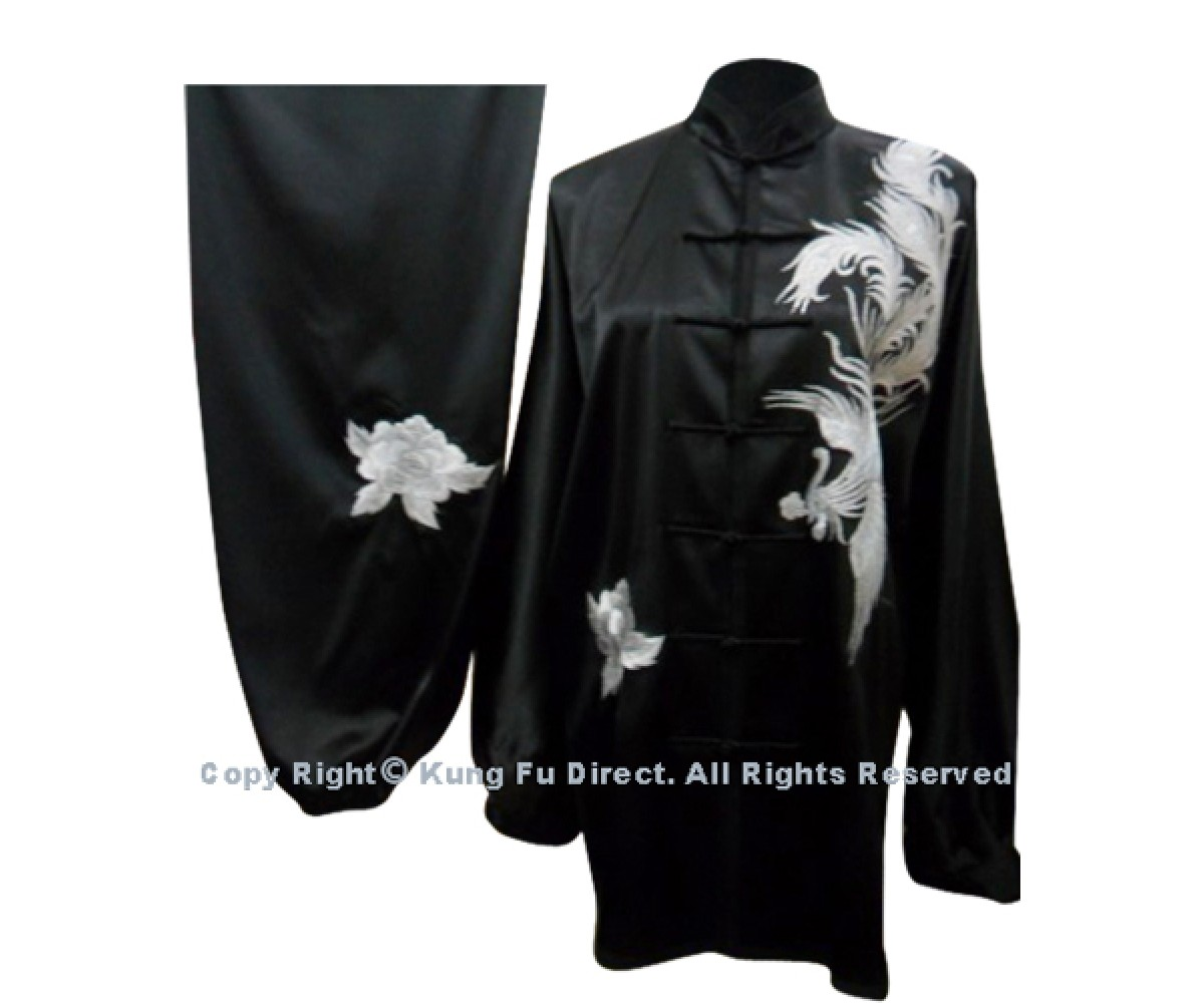 UC525 - Black Uniform with White Phoenix Embroidery