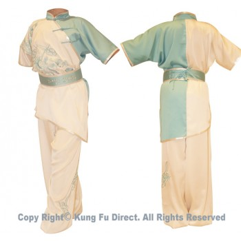UC529 - White/Blue Uniform With Phoenix Embroidery