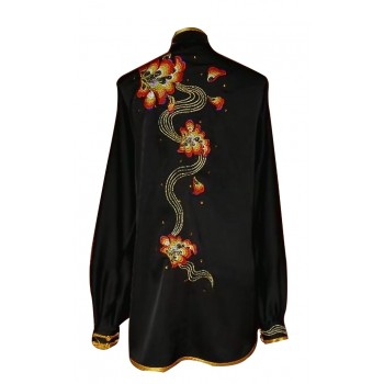 UC530 - Black Uniform with Flower Embroidery