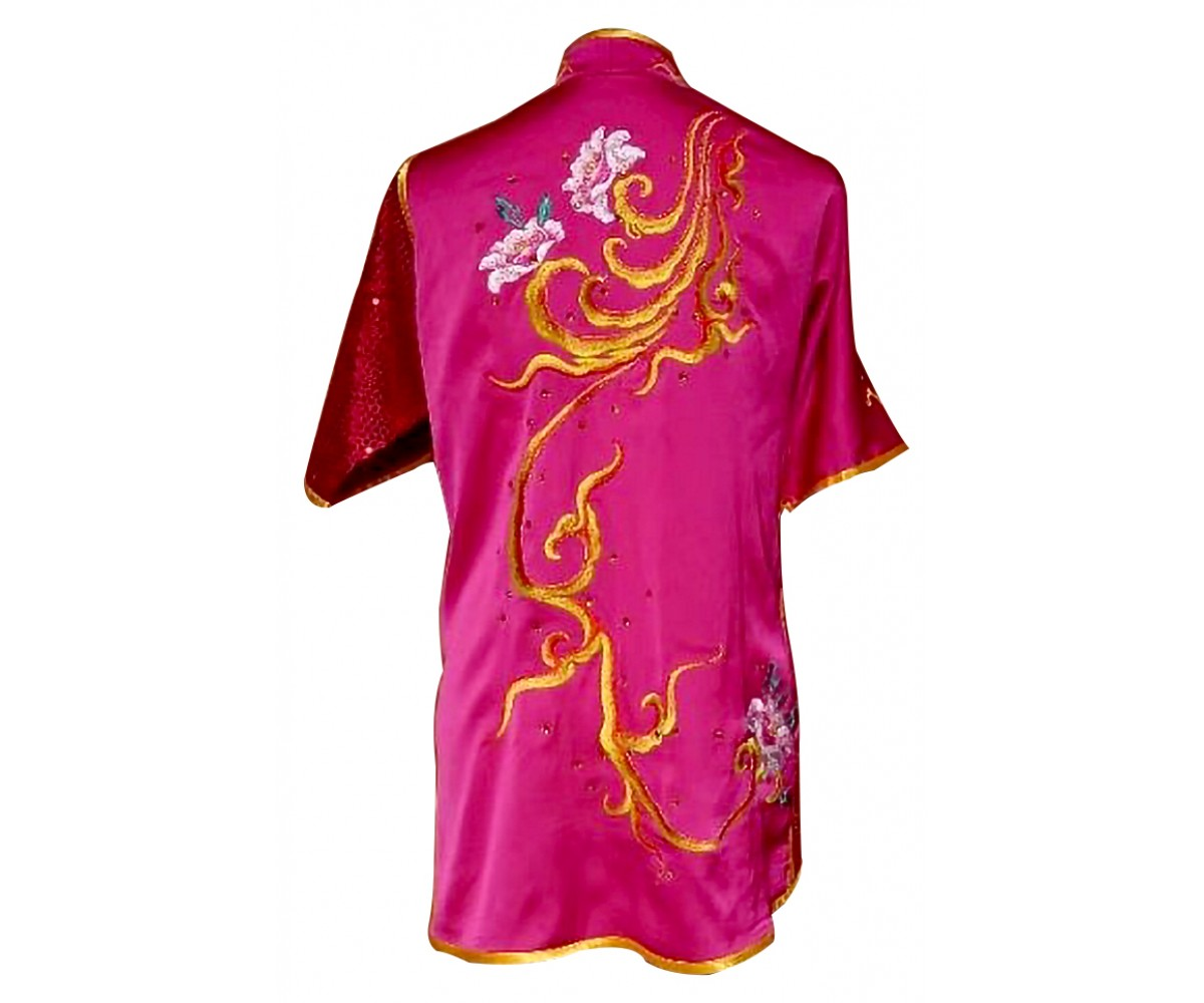 UC532 - Hot Pink Uniform with Flower Embroidery