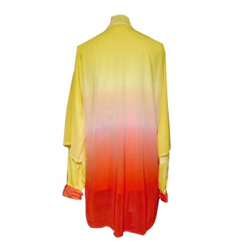 UC533 - Yellow to Red Uniform with Flower Embroidery