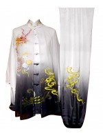 UC534 - White to Black Uniform with Dragon Embroidery