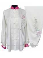 UC811 - White Uniform With Flower Embroidery