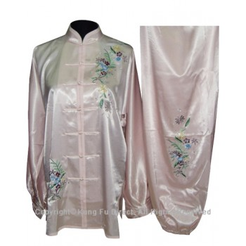UC818 - Light Pink Uniform With Flower Embroidery